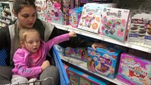 KAIA got PINK EYE! TOYS R US trip! Sissy RIDES in the CART with Kaia! The TOYTASTIC Sisters