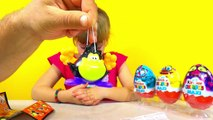 Киндер Макси яйца сюрприз игрушки распаковка Surprise Eggs Unwrapping Kinder Surprise Maxi Monsters
