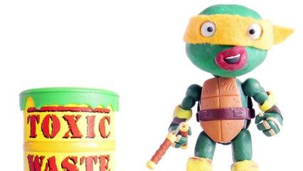 DANGER Toxic Waste Ninja Turtles Stop Motion Videos Play Doh Animated Superheroes