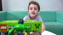 Minecraft A Masmorra de Lego Brinquedos Hulk George Peppa Pig Dungeon Minecraft