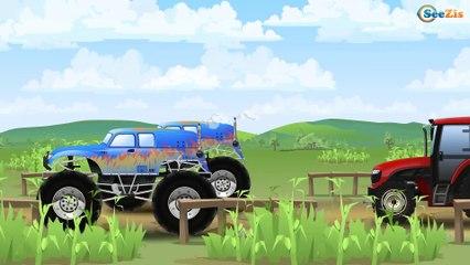 Voitures de construction - Le Tracteur et ses amis - Dessin animé pour bébés