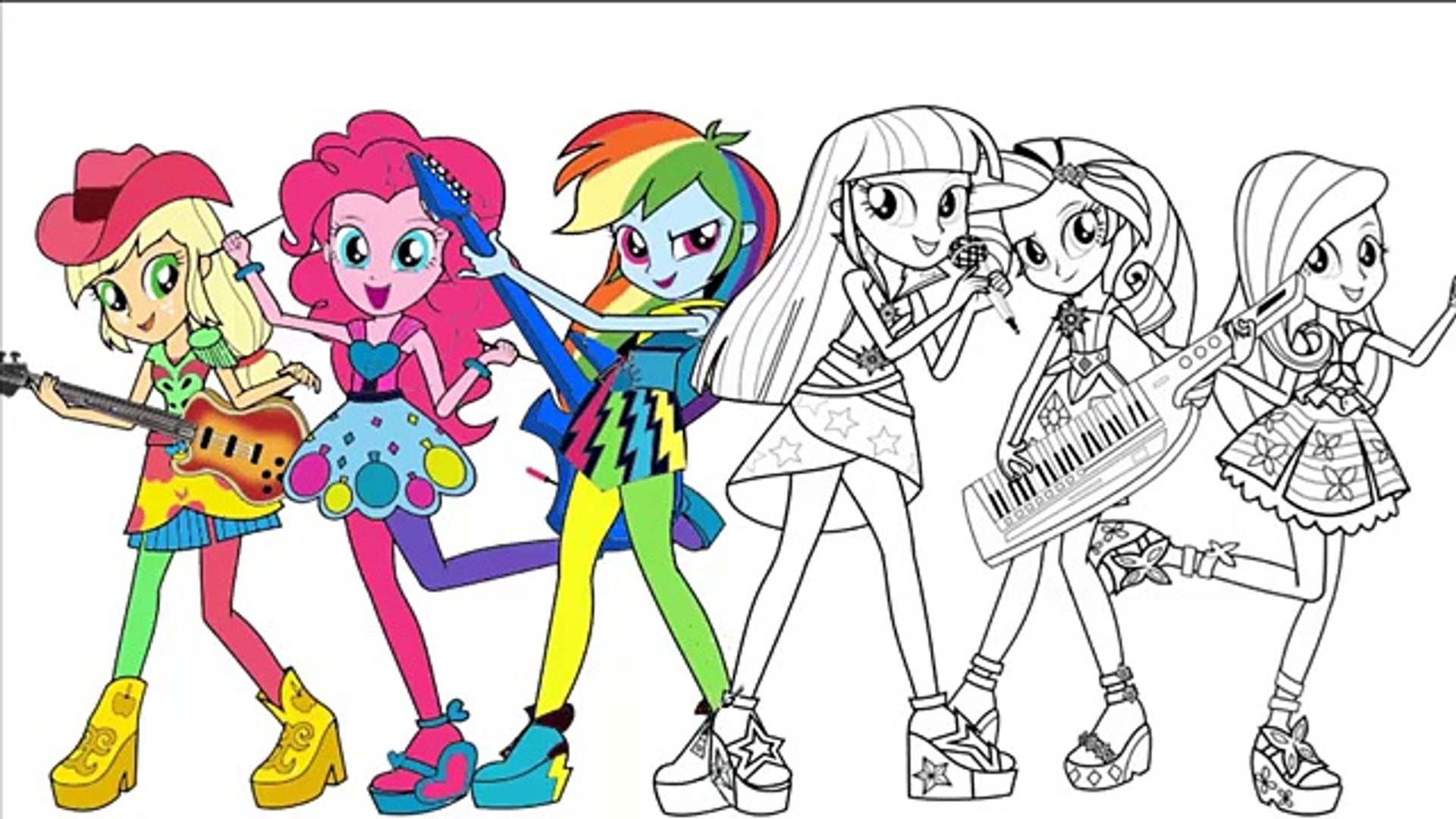 My Little Pony Coloring Page Mlp Equestria Girls Coloring Book