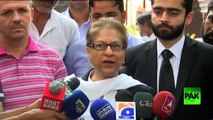 Asma Jehangir replying to ISPR Press conference and discussing NA 120 result - YouTube