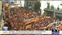 Catalogne: 350.000 manifestants anti-indépendance ont défilé à Barcelone, selon la police