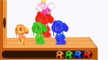 Learn Colors with Paw Patrol WOODEN FACE HAMMER XYLOPHONE Jelly Soccer Balls Toys for Kids Children