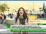 'Euro is a Greek word': RT mic gives air to Athenians