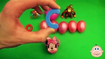 Kinder Surprise Egg Learn-A-Word! Spelling Play-Doh Shapes! Lesson 3 (Teaching Letters Ope