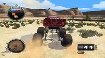 Des voitures camarade monstre un camion et Lightning McQueen Tyrano grutage monster truck rex giga