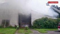 Brest. L'église Saint-Yves de Quizac en proie aux flammes