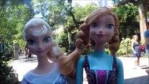 Et poupées gelé dans Nouveau parc le le le le la voyage visite Anna elsa zoo central york disney