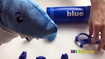 Les couleurs pour géant enfants Apprendre des crayons arc en ciel jouets avec Crayola crayon surprise abc surprise