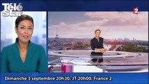 L'arrivée en fanfare d'Anne-Sophie Lapix sur le 20 heures France 2
