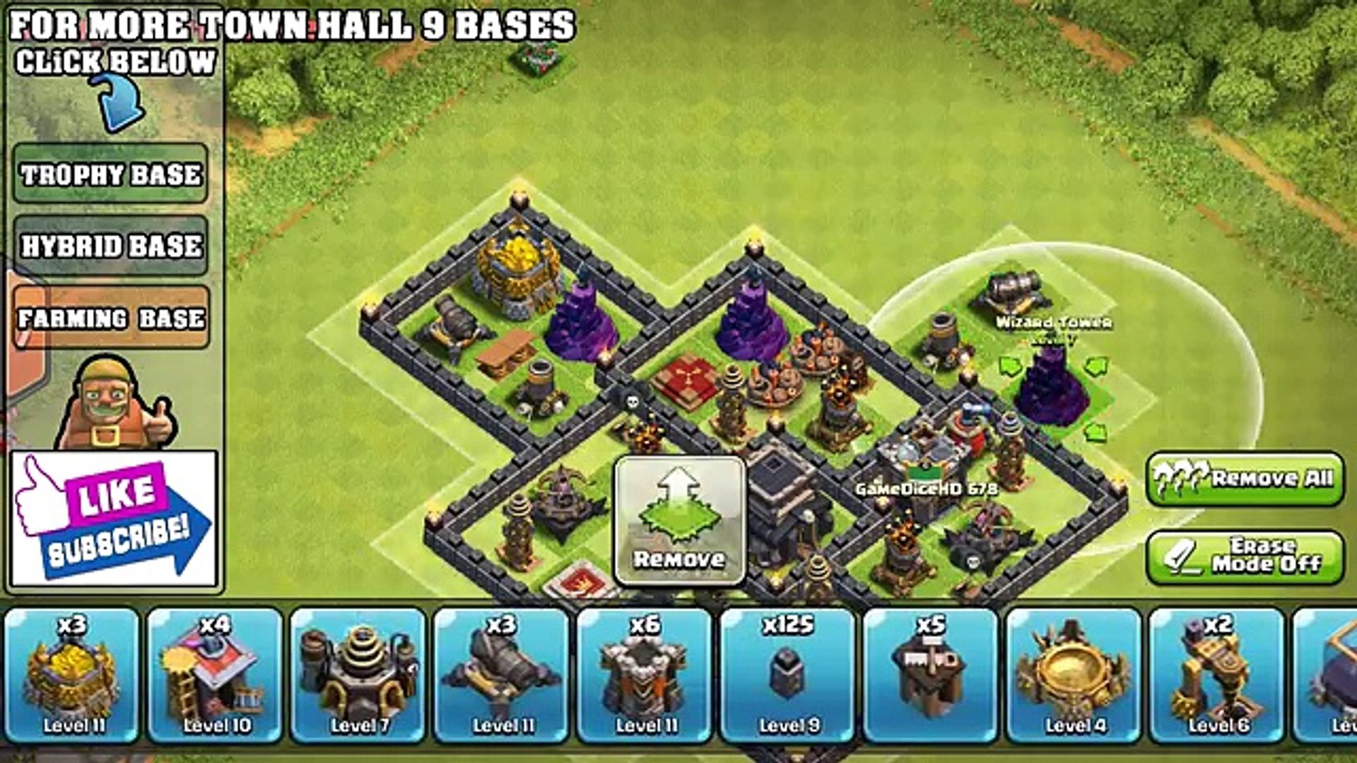 Clash Of Clans Town Hall 9 Th9 Best War Trophy Base 2 Air Sweepers New Update New Dailymotion Video