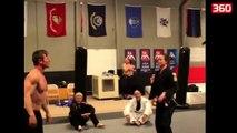 Kush mendoni se fiton mes nje bodybuilderi dhe nje rripi te zi ne jiu jitsu (360video)