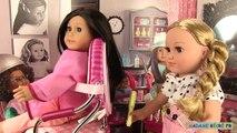 Coiffure Poupée American Girl Salon Siège Coiffeur