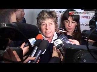 """TG 11.03.15 Camusso a Bari: """"Renzi ha invitato a cena i precari?"""""""