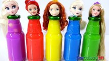 Animateurs bébé bouteilles les couleurs la famille doigt gelé Apprendre pâte à modeler Princesse Disney elsa pr