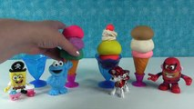 Play Doh Swirl Ice Cream Surprise Cups Paw Patrol Finding Dory Shopkins Surprise Eggs Mons