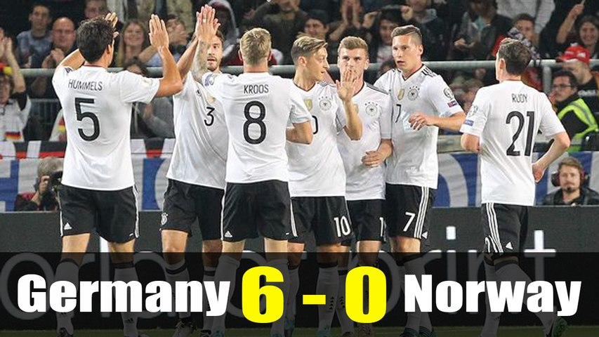 Germany vs Norway 6-0 All Goals & Highlights (04.09.2017) HD