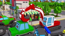 Learn Colors SUV Transportation & Tow Truck w 3D Video for Kids and Toddlers Car