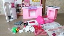 Par par poupée maison de poupées meubles cuisine mini- Ensemble taille déballage Barbie gloria barbie kitche