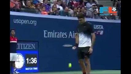 Roger Federer VS Philipp Kohlschreiber US Open final round 4-9-2017