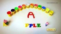 Faire des œufs de Apprendre des lettres petit mon porc jouer poney à Il jouets dans avec Doh surprise peppa lala pla