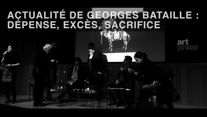 """Lancement artpress2 """"Georges Bataille"""""""