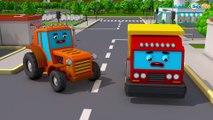 Caminhão e Trator para Crianças | Real Aventura dos carros | Desenho Animado Educativo
