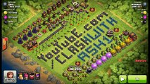 7 Golem Gowi With 4 Jump Spells - 3 Star TH10 Attack - Clash of Clans Strategy