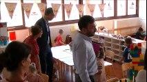 Rentrée scolaire : visite du maire dans les écoles bastiaises