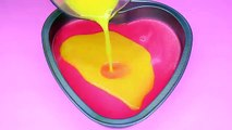 How To Make Rainbow Heart Shaped Pudding Valentines Day Dessert Idea DIY