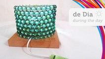 Escroquerie avec bricolage lampe marbres de de tableau luminaire com billes Gude lampe de table à billes 9