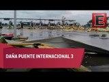 Tornado sorprende a Nuevo Laredo, Tamaulipas