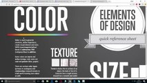 elements of design  - learn photoshop - lecture 1