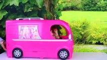 Et salle de bains campeur amusement amusement cuisine piscine examen la natation jouets Barbie glam van rv barbie ba