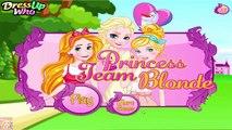 Et blond Cendrillon Robe pour des jeux filles Princesse équipe vers le haut en haut elsa Rapunzel disney
