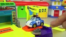 Robocar Poli slide car center and sand mini heavy car toys