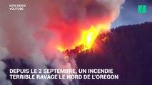 Cette vidéo montre l'inquiétante progression d'un incendie aux États-Unis