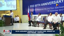 President Duterte assures parents of slain Carl Arnaiz of fair probe, justice