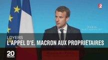 L'appel de Macron à baisser les loyers de 5 euros fait le buzz - ZAPPING ACTU DU 06/09/2017