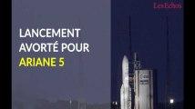 Lancement avorté pour la fusée Ariane 5