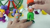 Enfants pâte à modeler Portugais tête de pomme de terre dargile classe de maître avec la pâte à modeler