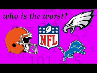 WHO IS THE WORST FRANCHISE IN NFL HISTORY? ITS NOT WHO YOU THINK
