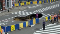 Saint-Josse : Une partie de la chaussée de Louvain s'est effondrée
