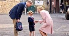 Prens George Okula Başladı! Öğretmeni Veliahtı Kapıda Karşıladı