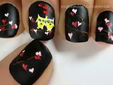Valentines Day Heart Nail Art Tutorial - Valentines Day Nails for Valentines Day Nail Art Valentines Day nail designs(2)