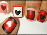 Valentines Day Heart Nail Art Tutorial - Valentines Day Nails for Valentines Day Nail Art Valentines Day nail designs(3)