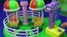 Ballon première dans parc porc Princesse balade le le le le la thème avec Peppa disney sofia tiovivo giro m