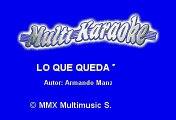 Luis Miguel - Lo Que Queda De Mi (Karaoke)